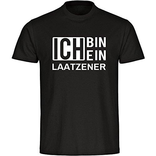 T-Shirt Ich bin ein Laatzener schwarz Herren Gr. S bis 5XL