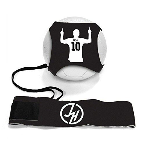 Soccer Adjustable Ball Rebounder (iSport Gifts Messi #10 StarKick Solo Soccer Trainer Aid ✓ Adjustable Soccer Training Belt Rebounder ✓ Fits Soccer Ball Size 3, 4 & 5BALL NOT Included (StarKick Soccer Trainer, Messi #10))