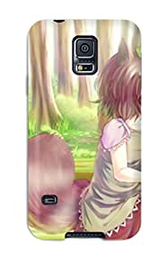 Premium Tpu Girls Animal Ears Brown Browncatgirl Chen Dqn Dqnww Hat Leaves Multiple Tails Shorttail Touhou Cover Skin For Galaxy S5
