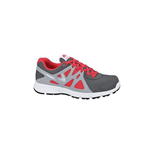 Boy's Nike Revolution 2 Running Shoe (GS) Dark Grey/White/Metallic Silver Size 6.5 M US (Boys Nike Flex Shoes)