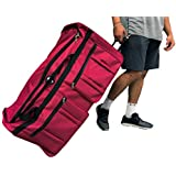 "Gothamite 36-inch ICE USA Ro & Co Rolling Wheeled Bag Cargo Duffel Travel Oversize Hockey Sports Duffle 36"", Red, XL"