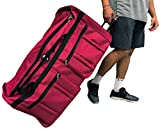 Gothamite 36-inch Rolling Duffle Bag with Wheels   Luggage Bag   Hockey Bag   XL Duffle Bag With Rollers   Heavy Duty 1200D Polyester (Red)