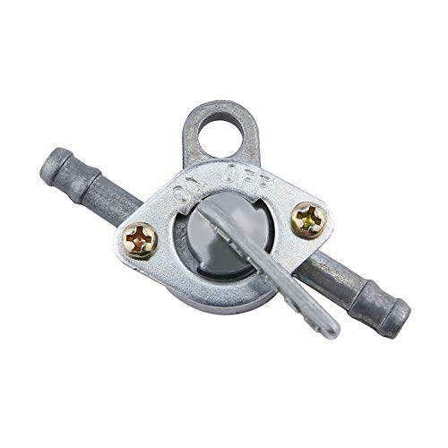 BFHCVDF Fuel Petrol Tank Switch Tap Petcock Gasoline Valve With Two Ends On/Off Switch silvery