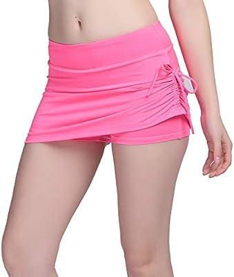 DKXLW Pantalones Cortos De Mujer,Las Mujeres Rosa Verano Falda ...