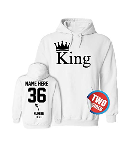 King Hoodie - Matching Couple Sweaters Valentines Sweatshirts for Couples