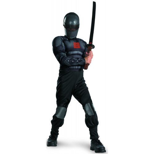 Disguise Boys GI Joe Movie Snake Eyes Light Up Deluxe Muscle Costume, Small/4-6]()