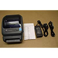 Zebra GX420d GX42-202512-000 Printer W/Cutter, New Adapter USB Power Cables