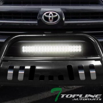 Lexus GX470 120W CREE LED Fog Light For 03-09 Toyota 4Runner Topline Autopart Black Bull Bar Brush Push Bumper Grill Grille Guard With Skid Plate