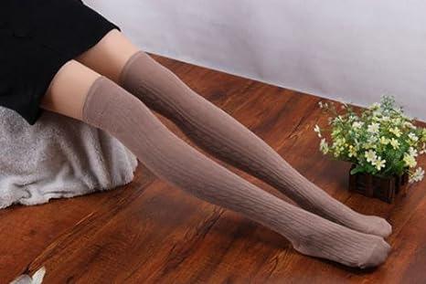 DOGZI Mujer Calcetines de tubo largo por encima de la rodilla 1 ...