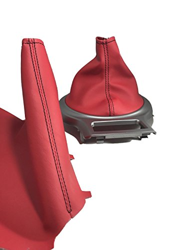- For 13-17 Subaru BRZ/Scion FRS/Toyota 86 Shift and E Brake Boots Premium Red Vinyl Black Stitch