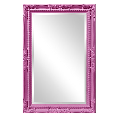 Howard Elliott 53081HP Queen Ann Mirror, Glossy Hot - Com Mirror Pink