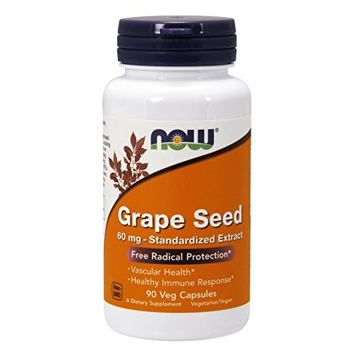 NOW Grape Seed Antioxidant 60mg, 90 Veg Capsules(Pack of 2) Review