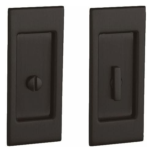 Baldwin PD006.PRIV Santa Monica Privacy Pocket Door Set with Door Pull from the, Oil Rubbed Bronze