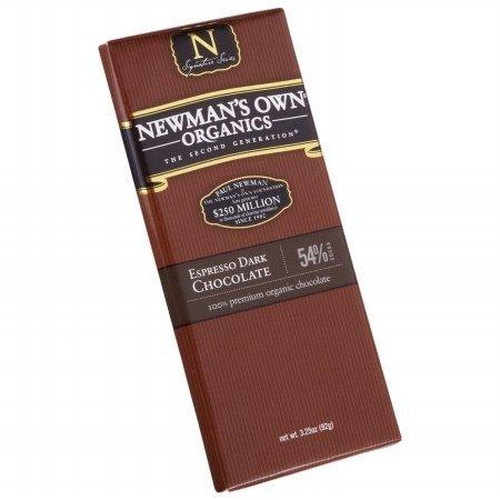Newmans Own Organic Choc Bar Drk Exprsso Org - Chocolate Newmans Bar Own