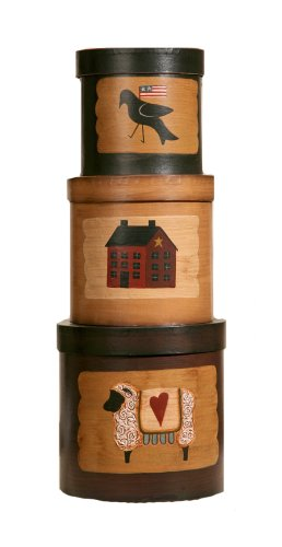 Your Heart's Delight Primitives Nesting Boxes, 16 by 6-1/2-Inch, Set of 3