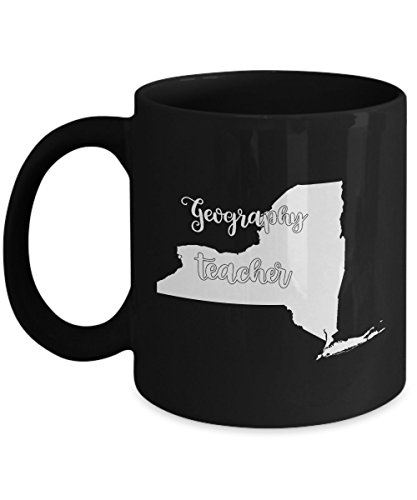 New York Geography Teacher Home State Back To School Teacher Day Coffee Mug Gift 11oz Black - World Book Day Costume Ideas 2016