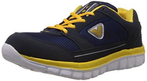 Vokstar Men's Blue and Yellow Running Shoes - 8 UK (V233)