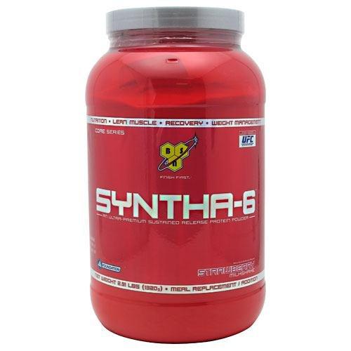 BSN Syntha-6 клубничный молочный коктейль - 2,91 кг (1320 г)