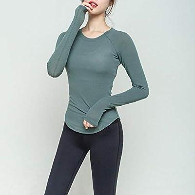 De Secado rápido Ropa de Entrenamiento Ropa de Yoga Apretada Alrededor del Cuello de la Camisa