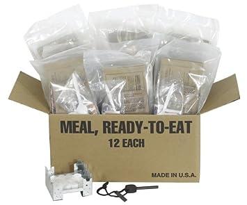 Northstar supervivencia 12 completo comidas MRE con estufa, combustible, y Fire Starter: Amazon.es: Deportes y aire libre