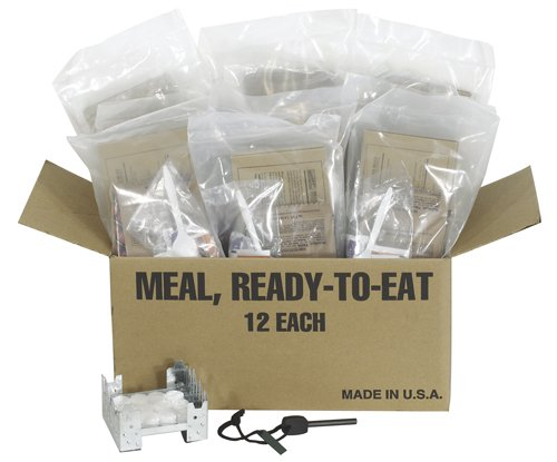 Northstar Survival 12 Complete Meals MRE with Stove, Fuel, and Fire Starter by Northstar Sports