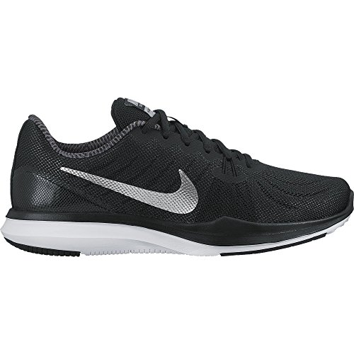 NIKE Womens Season tr 7 Fabric Low, Black/Metallic Silver/Anthracite, Size 9.5