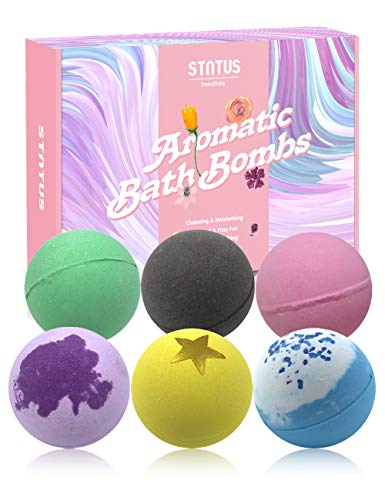 STNTUS Bath Bombs, Large Scented Essential Oil Bath Bombs for Women Men, Handmade Natural Bathbomb for Kids, Relaxing Gifts for Her, Spa Gifts Set for Valentines Mothers Day Christmas Birthday