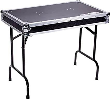 Amazon Com Deejayled Tbh Flight Case Universal Fold Out Dj Table In 36wx21dx30 H Tbhtable Musical Instruments