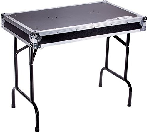 (DEEJAYLED TBH FLIGHT CASE UNIVERSAL FOLD OUT DJ TABLE IN 36WX21DX30