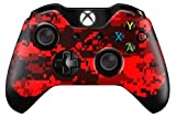 Cheap Xbox One Controller/Gamepad Skin / Cover / Vinyl Wrap – Red Digital Camouflage Design (Pack of 2 Skins) by Cell Shell