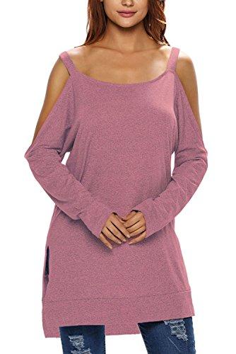 HOTAPEI Womens Asymmetric Shoulder Sleeve