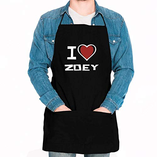 Idakoos I love Zoey Bicolor Heart Apron 24