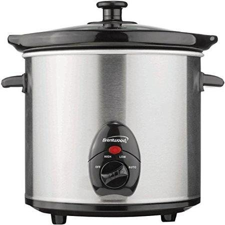 Brentwood SC-130S 3 quart Slow Cooker, Silver