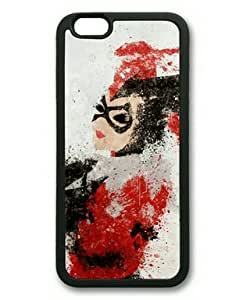 iPhone 6 Case,Harley Quinn TPU Rubber Shell Black Cover Case for iPhone 6(4.7Inch) by runtopwell