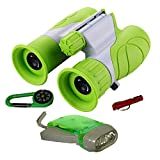 WenToyce Kids Outdoor Exploration Adventure Kit, with 8x21 Binoculars, Flashlight, Compass, Whistle; Bird Nature Watching, Hunting, Educational Learning Set for Toddler