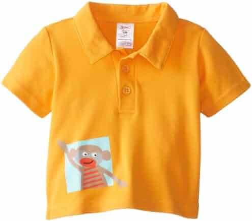 Timall Unisex Kids Tops Polo T-Shirts Plain Cotton Shirt Short Sleeve Tops for Boys Girls