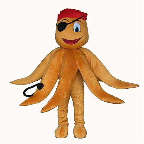 Adult Size Lovely Pirate Octopus Mascot Costume Sea Animal Mascots Deguisement Mascotte Team Mascot