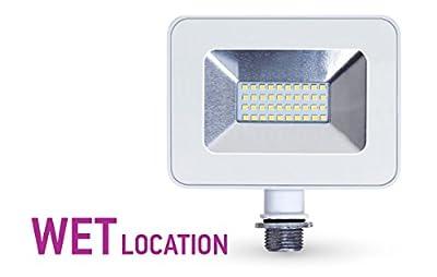 LLT LED Floodlight with Knuckle Mount Super Slim SMD Outdoor Landscape Security Waterproof 5000K (Daylight) 20W/ 30W/ 50W