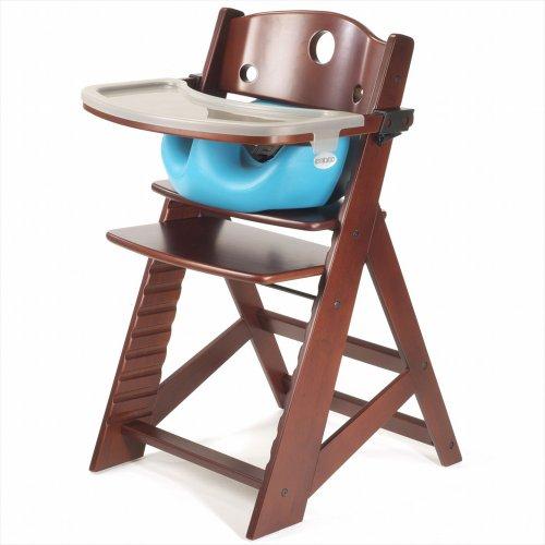 keekaroo-height-right-high-chair-infant-insert-and-tray-combo-mahogany-aqua