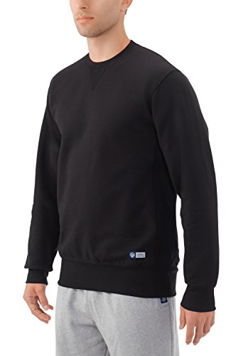 Russell Athletic Men's PRO10 Heritage Inspired Heavyweight Sweatshirt, Black - Large