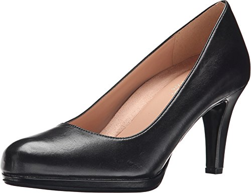 Naturalizer Women's Michelle Dress Pump, Black Leather, 9 M US