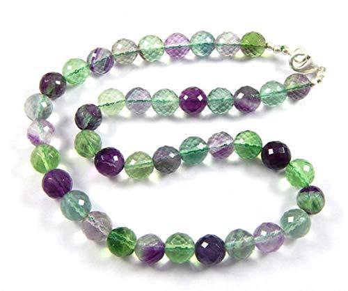 Gems World Beautiful Jewelry 1 Strand 9mm Genuine Rainbow Fluorite Puffed Coin Beads - 17 Inch Strand Code-COM-2436 (Puffed Coin Beads)