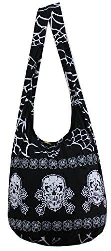 NaLuck Rock Skull Punk gothic celtic Knot Hippie Hobo Sling Cross body Shoulder Messenger Bag PKLS01