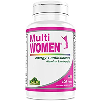 Amazon.com: Multi Women 100 Tablets - Dietary Supplement - Vitamins & Minerals - Herbs - Amino Acids - Antioxidants: Health & Personal Care