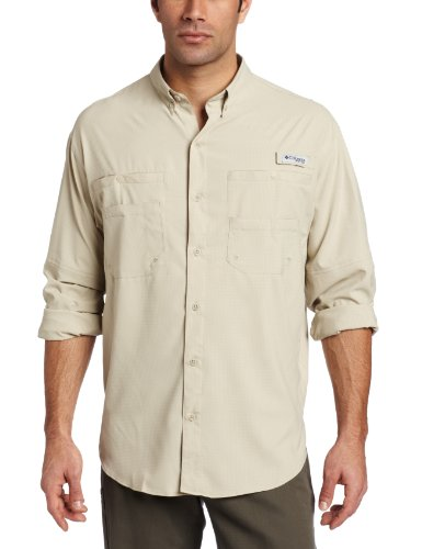 Columbia Men's Plus Tamiami II Long Sleeve Shirt, Fossil - Large