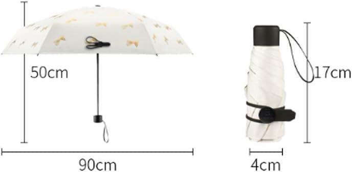 Hw home Ultralight Sun Umbrella UV Protection Umbrella Folding Sun Umbrella Dual-use Sunscreen Vinyl Pocket Five Folding Umbrella
