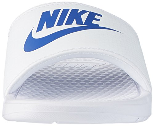 Nike Para Hombre Benassi Just Do It Athletic Sandal Blanco / Varsity Royal White