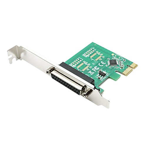 QNINE PCIe Parallel Port Expansion Card, PCI Express to DB25 LPT Converter Adapter Controller for Desktop Printer