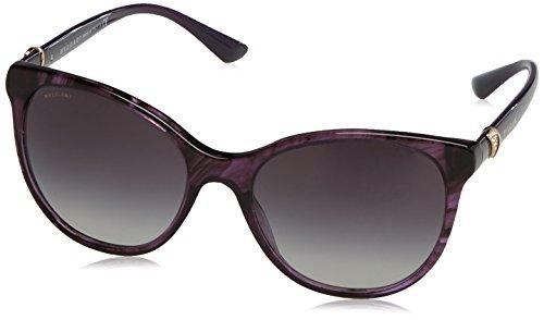 Bvlgari BV8175B 54058G Striped Violet BV8175B Oval Sunglasses Lens Category 3 - S Bvlgari Sunglasses