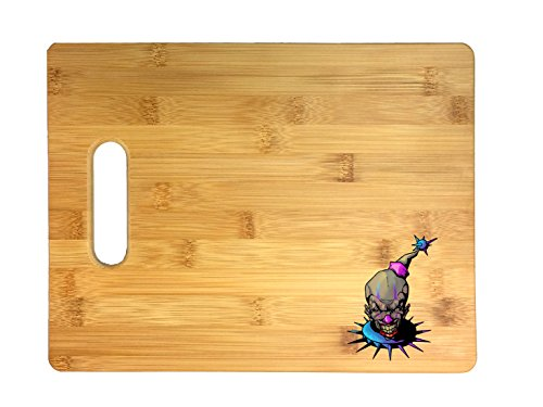 Purple and Blue Fun, Frightening, and Evil Clown 3D COLOR Printed Bamboo Cutting Board - Wedding, Housewarming, Anniversary, Birthday, Mother's Day, Gift ...]()